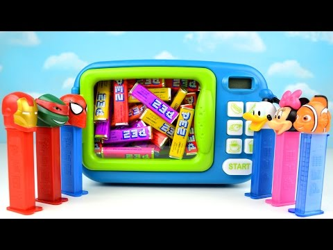 Just Like Home Toy Microwave Oven Play Kitchen PEZ Candy Magic Children Kids Toddler Mickey Mouse