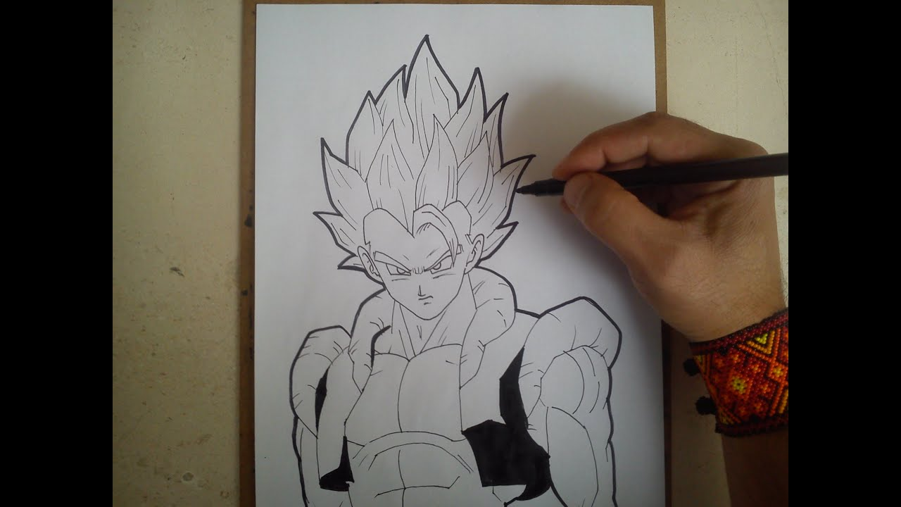 Como Dibujar A Gogeta How To Draw Gogeta Youtube
