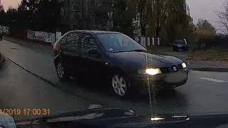Wymuszenie pierwszeństwa na skrzyżowaniu ulic Nasypowej i Kaczyńskiej
