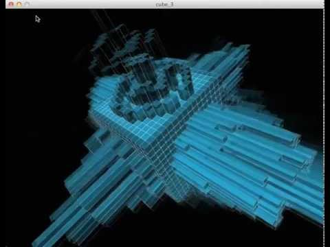 Processing cube music visualizer