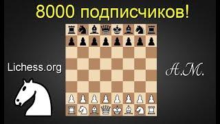 [RU] Нас 8000! Игра со зрителями на lichess.org !  Шахматы.Андрей Микитин.