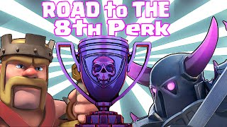 Clash Of Clans - PUSHING to 8TH PERK!! (Epic Raids!!!)