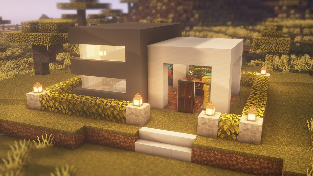 How to build  modern house in Minecraft 🏠😀
