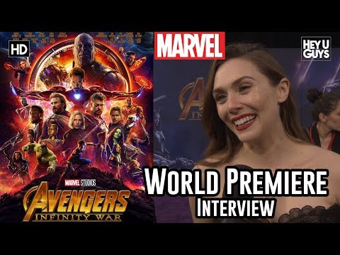 Elizabeth Olsen Scarlet Witch on switching things up for Avengers Infinity War  Premiere