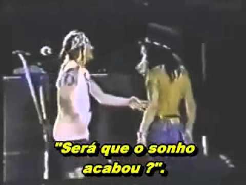 Axl Rose and Slash last hug