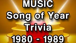 Music Trivia - Grammy Winners 1980-1989