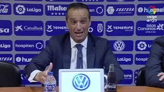 Rueda de prensa de José Luis Oltra tras el CD Tenerife vs Real Sporting (0-1)