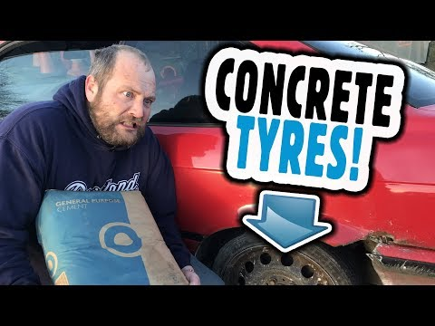 We filled our Drift Tyres with CONCRETE! Will it Drift? Concrete Filled Tires