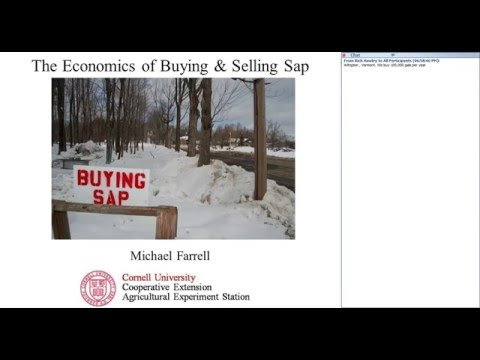 Economics of buying and selling sap