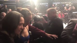 Ronda Rousey Walks Out Of Octagon After Amanda Nunes Knockout - UFC 207