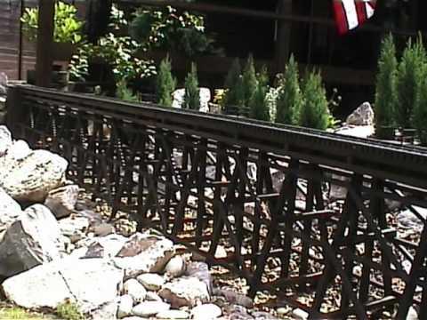 WLCR Garden railway railroad wooden trestle bridge and steel