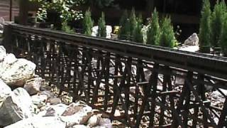 Wlcr: Garden Railway / Railroad Wooden Trestle Bridge And Steel Truss Bridge
