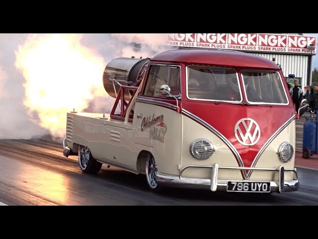 Watch This Volkswagen Type 2 With A Jet Engine Fly Down The Drag Strip