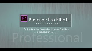 how to use & Unliṁited Premiere Pro Templates, Transitions, Titles & More