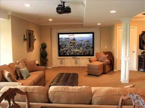 basement decorating i basement decorating ideas colors - youtube