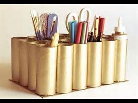 500 ideas creativas con rollos de papel higienico tubos de papel de bano youtube - Manualidades rollos de papel higienico ...