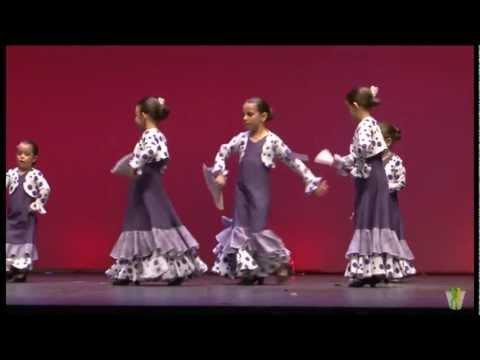 flamenco infantil alumnos de la Escuela de baile Francis y Dulce Gala fin de curso 2012