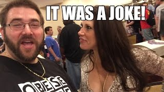 MICKIE CALLS SECURITY!! MEETING WWE Superstars at Legends of the Ring