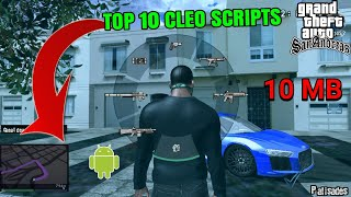 Top 10 GTA V Cleo MODS/Scripts GTA SA Android | Best Cleo Cheats Pack 2018 (10 MB)