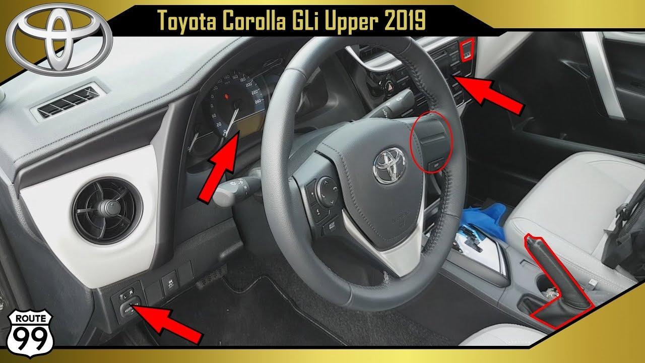 Toyota Corolla Gli 2019 Detalhes Internos Youtube