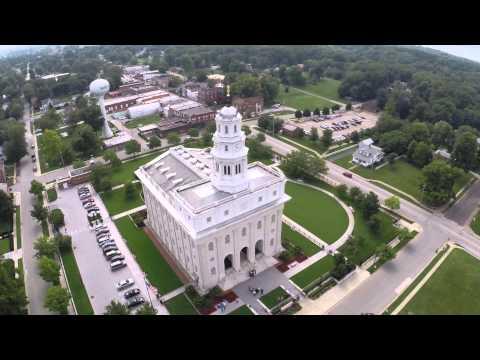 Nauvoo, Illinois Flyover 2014