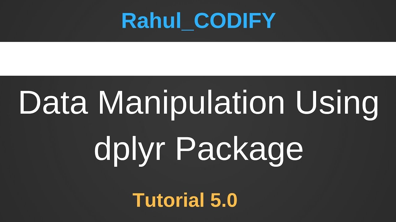 data manipulation Learn about glimpse, select, pipe operator, mutate, filter, group_by, summarize, and arrange in r using dplyr to perform data manipulation.