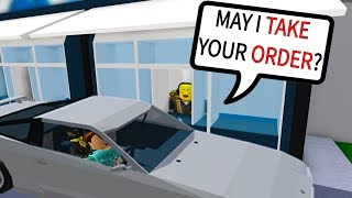 WORKING AT THE DRIVE-THRU IN ROBLOX!