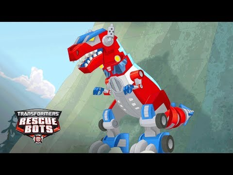 Download Youtube: Transformers: Rescue Bots Season 3 - 'Optimus Prime's Primal Mode, T-Rex!' Official Clip