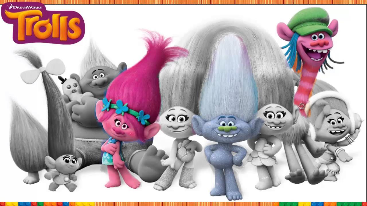 Imagen De Español Para Colorear: Trolls, Imagenes Para Colorear, Libro Para Colorear