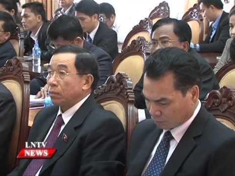 Lao NEWS On LNTV: President Bounnhang Vorachit instructs the new government.2/5/2016