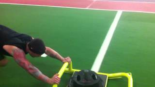 Chad George Pushing the Sled