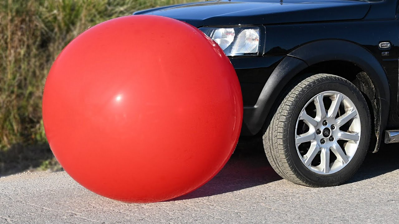 EXPERIMENT Car vs HUGE BALLOON Crushing Crunchy & Soft Things by Car