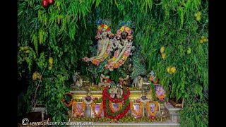 ISKCON Vrindavan Hariyali Teej Special Deity Darshan 26 July 2017