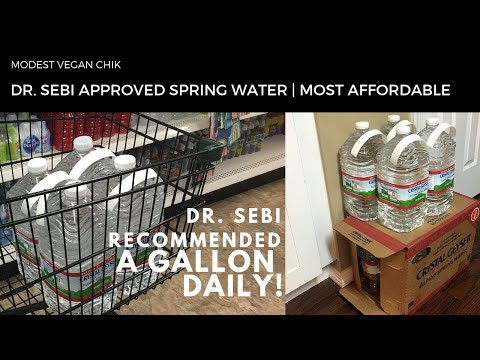 Dr Sebi Approved Spring Water | Crystal Geyser | Most Affordable!