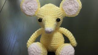 Мышонок амигуруми ( вяжем носик) часть 4