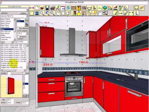 virtualkitchenbasic presentacion - youtube - Software Diseno Muebles