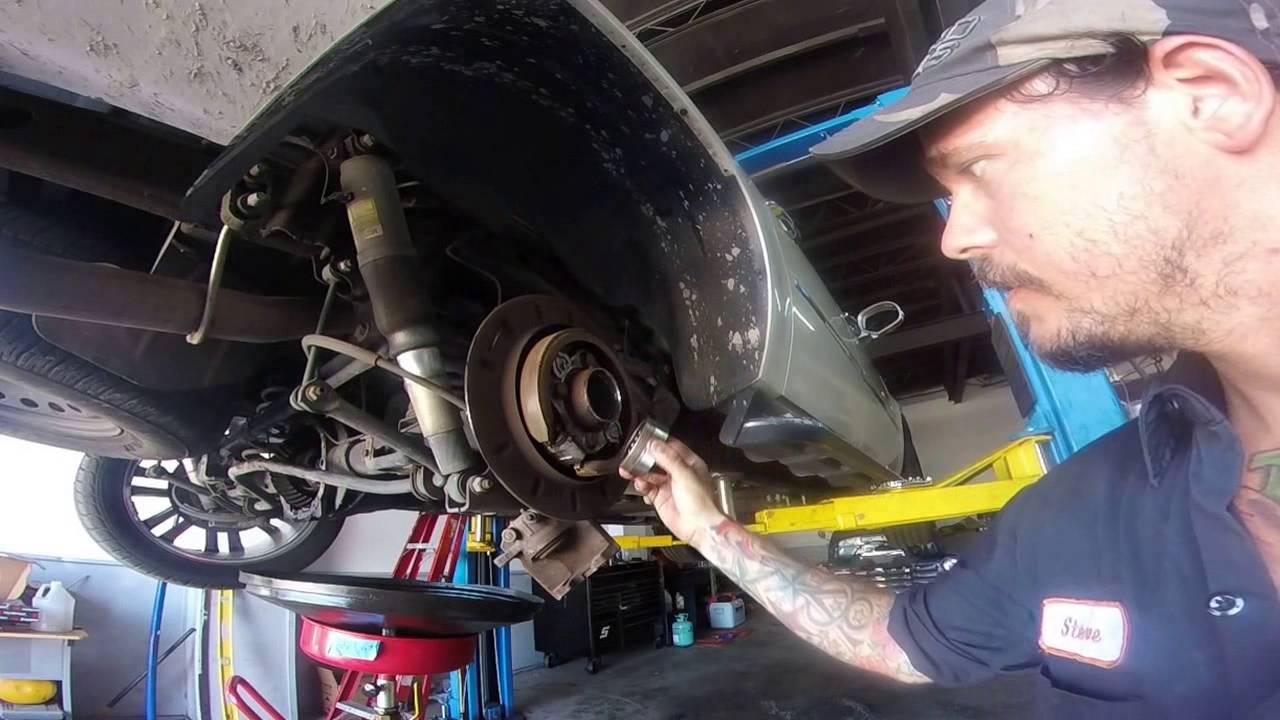 08 cadillac escalade rear axle bearing - YouTube