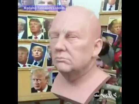 Trump Wax Figure Assembled at Madame Tussauds