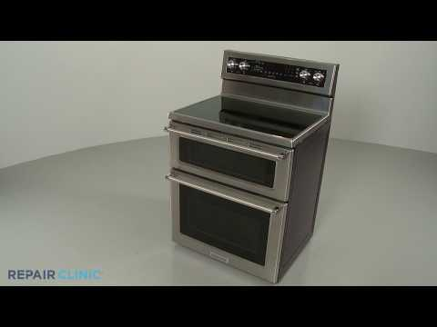 Main Top - Kitchenaid Double Oven Electric Range #KFED500ESS02