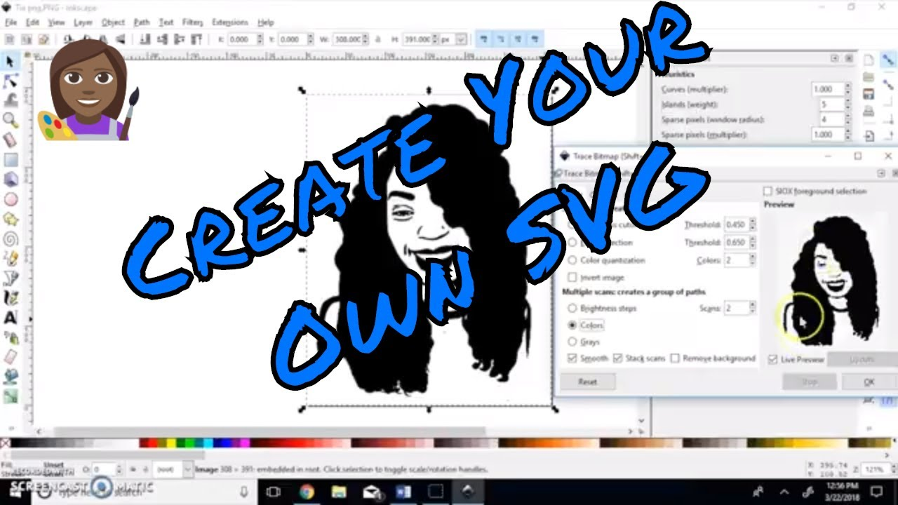 How To Make A Svg File Using Inkscape Youtube