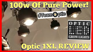 OPTIC 1 XL 100w COB LED Grow Light Review - CREE CXB3590 - Meanwell Driver