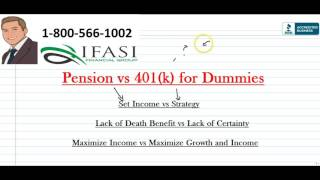 pension vs 401k pension vs 401k for dummies