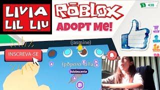 Roblox - CUIDANDO DO POPOTO (Adopt Me) - Livia LIL Liu