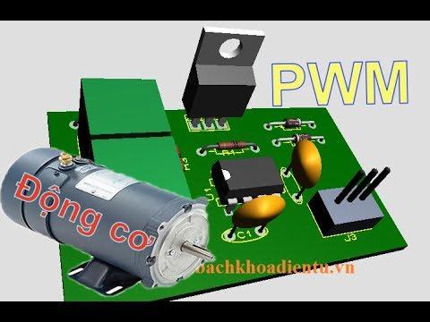 Điều Tốc Động Cơ DC Bằng Băm Xung PWM Sử Dụng IC NE555  Trong Thực Tế