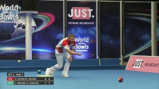 Just. 2019 World Indoor Bowls Championships: Day 2 Session 4