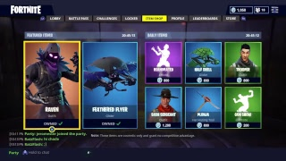 Fortnite the raven skin in action playing with afnan and robot king david