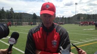 Coach Davie Post Scrimmage 8-10-14