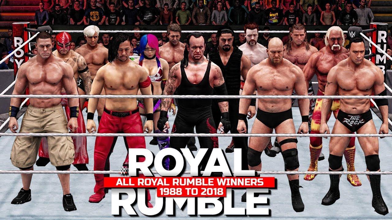 a862081db1e0 All Royal Rumble Winners 1988 To 2018! ( WWE 2K18 ) - YouTube