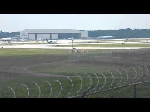 US Airways Express CRJ-200 Takeoff Charlotte CLT