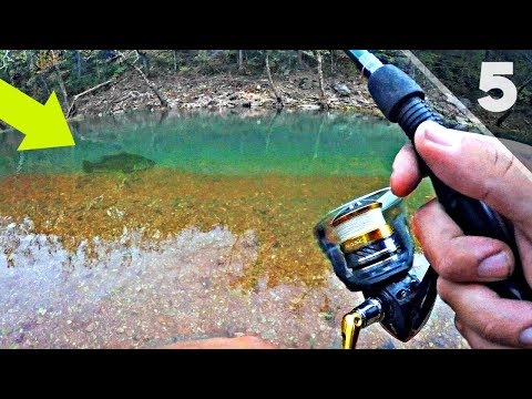 ULTRA CLEAR Creek Fishing For Backwoods Bass!!!